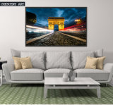 Modern Ciry Paris Arch of Triumph Photo Canvas Print