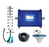Lintratek 4G Lte 1800MHz (Band 3) LCD Cell Phone Signal Booster 70dBi Gain 4G Signal Repeater Amplifier Yagi Antenna Set