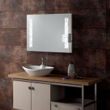 Hotel Bathroom Fogless Hard Wired LED Lighted Wall Mount Mirror