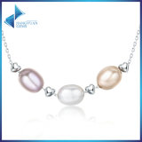 New Collection Genuine 925 Sterling Silver Jewelry Freshwater Pearl Necklace