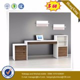 Wooden Computer Desk L Shape Melamine Office Furniture (HX-5N398)