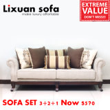 American Classic Wooden Fabric Sofa Love Seat Chair and Antique Table Set Classical Couch for Living Room
