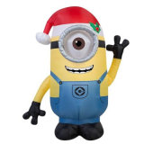 Christmas Holiday Yard Decoration Inflatable Minion Display