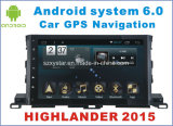 New Ui Android 6.0 Car Player for Highlander 2015 with Car GPS