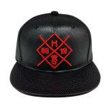 New Style Fashion PU Snapback Baseball Cap with Logo (GJ1706A)