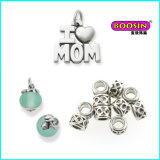 Custom Made Alloy Wholesale Cheap Love Mom Silver Necklace Pendant
