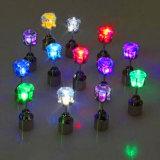 LED Light up Blinking Stainless Steel Stud Earrings