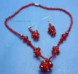 Handmade Beaded Fashion Crystal Jewelry Sets (CJ204)