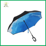 190t Pongee Fabric Windproof Double Umbrella Inverted