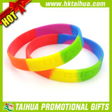 Promotion Gift Silicone Bracelets with Segmented Color (DSC05219)