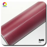 Tsautop 1.52*30m 3D Red Carbon Fiber Car Wraps Film