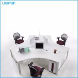 Uispair Modern High Quality MFC Board Telescopic Beam Cross Shape Staff Office Desk Workstation