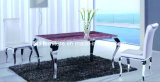 Neoclassical Furniture/Marble Dining Table/Glass Top Table (532E)