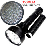 High Brightness Hunting Outdoor Exploration 35000 Lm 24X CREE Xml T6 LED Flashlight