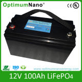 Deep Cycle 12V 100ah LiFePO4 Rechargeable Battery for Solar Energy