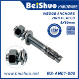 High Quality Carbon Steel Galvanized Wedge Anchor with Nut