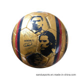Custom Logo Promotion PVC Leather Machine-Sewn Soccer Ball