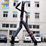 Advertising Inflatable Black Puppet Dancing Air Tube Man Sky Dancer