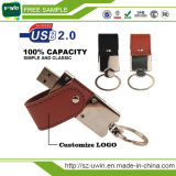 Creative Gift Colorful Leather Metal USB Flash Memory