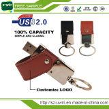 Creative Gift Colorful Leather Metal USB Flash Memory