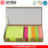 Customize Design Paper Cube, Sticky Note with Wooden Pallet