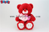 Personalized Gifts Red Lovely Teddy Bears with 3 Hearts for Valentines Day