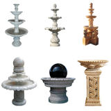 Marble Stone Carving Sculpture for Outdoor Garden Ball Fountain/Garden Stone Sculpture