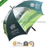 Digital Printing Fiberglass Golf Promotional Umbrella for Advertising (GOL-0027BFD)