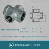 Malleable Iron Pipe Fitting Banded 180r Street/Reducing Crosses