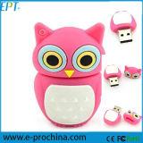Cute Owl USB Flash Disk Customized PVC Pen Driver