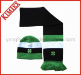 Fashion Acrylic Winter Warmer Hat and Scarf Knitted Set