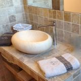 Oval Shape Egyptian Marble Vessel Sink for Bathroom