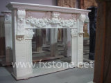 Marble Fireplace Mantels /Stone Fireplace Marble Mantel/Stone Mantel