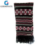 Fashion Jacquard Scarf with Tassel (Hjs06)