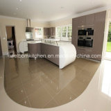 White and Grey Lacquer Kitchen with Insland
