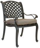 Outdoor Patio Garden Aluminum Furniture 10PCS Nassa Cast Aluminum Dining Set with Lasy Sussan Top