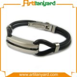 Customer Design Silicone Bracelet with Metal