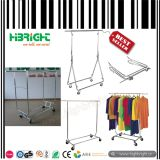 Collapsible Double Rail Garment and Clothes Racks
