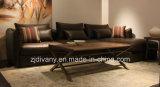 Italian Modern Leather Fabric 3 Seats Leather Sofa (D-74D+B+E)
