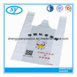 Factory Plastic Shopping Bag with T-Shirt Shape Handle