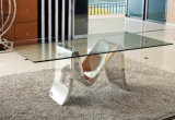 Modern Metal Furniture Glass Dining Table for Sale