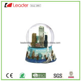 Polyresin Craft Gift Customized Snow Globe with Building for Promotional Gift and Home Decoration