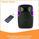 Popular 12 Inches Plastic LED Projection Loudspeaker with Battery