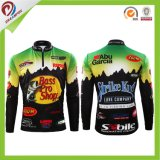 Wholesale Free Custom Sublimation 1/4 Zipper with Collar Fishing Shirts