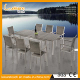 Modern Patio Outdoor Garden Bistro Wicker Furniture Dining Stackable Rattan Chair with a Extendable Table