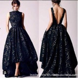 Black Lace Party Gowns Long Prom Evening Dresses Z3045