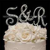 Rhinestone Initial Vintage Letter a to Z Wedding Cake Topper for Cake Decoration