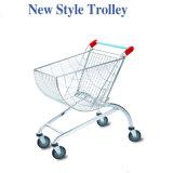 Chrome Steel Supermarket Wire Shopping Trolleys Cart