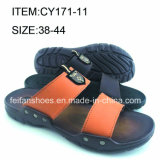 Fashionable Men Slippers PU Sandals Wholesale Flip Flop (FFCY0307-03)