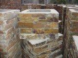 Cement Back Yellow Slate Column (SSS-96)